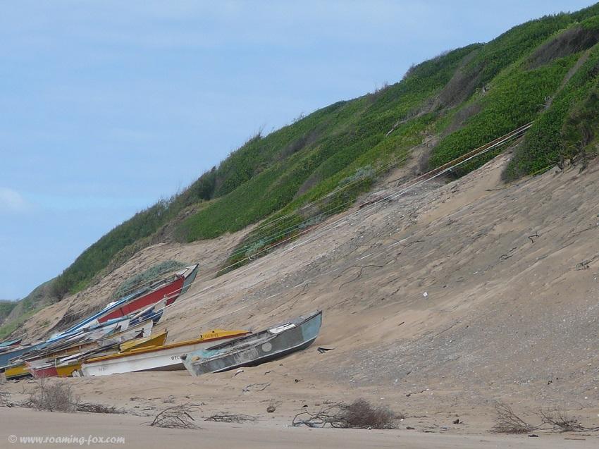 Boats on the beach Zavora
