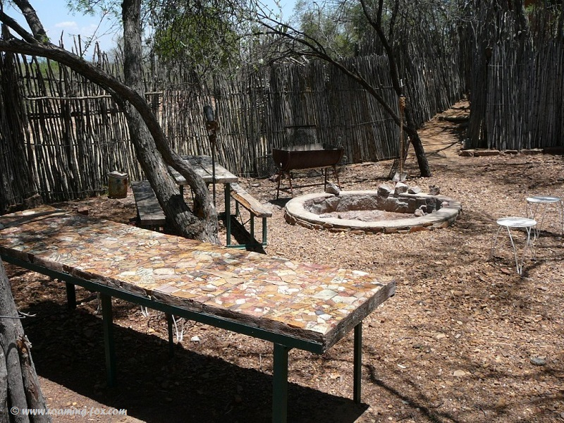 Boma where we made fire at night