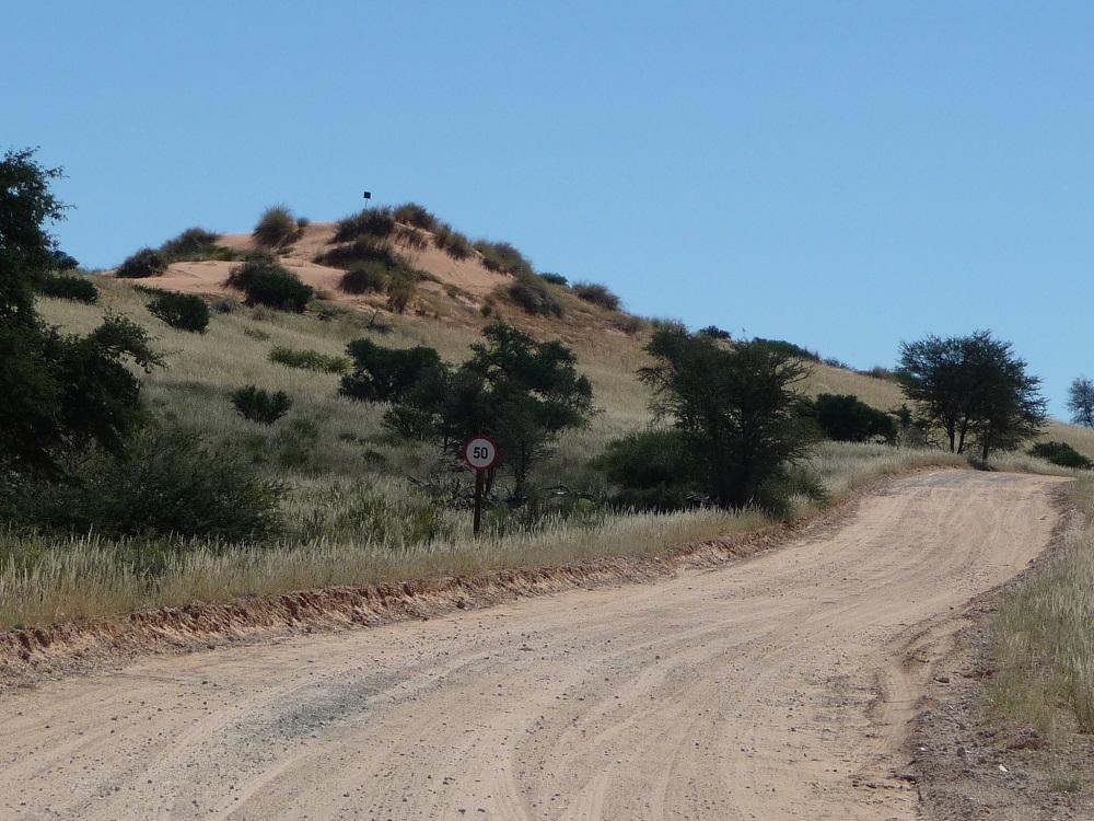 Gravel road in Kgalagadi