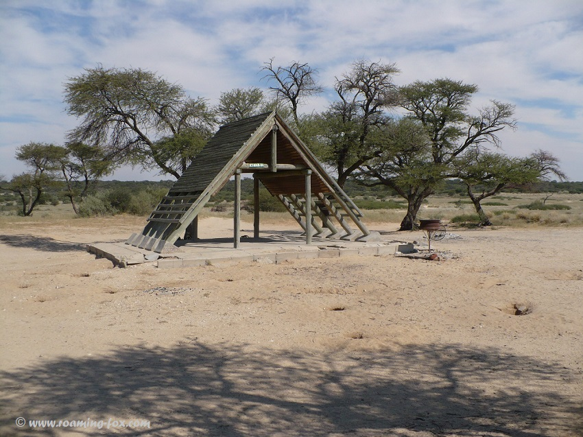 A-frames at Botswana campsites in Kgalagadi