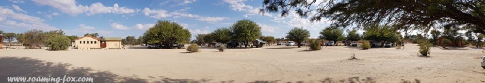 Campsites at Nossob Rest Camp