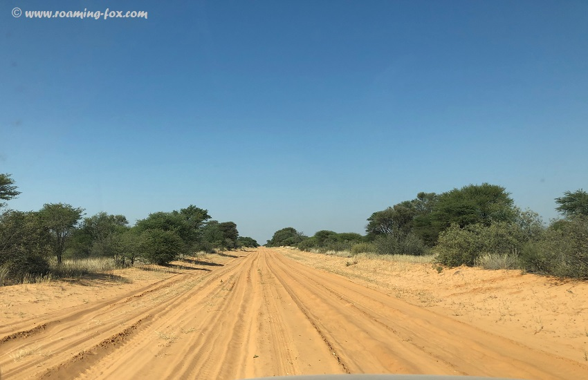 Mabua to Tshabong - Kalahari highway?