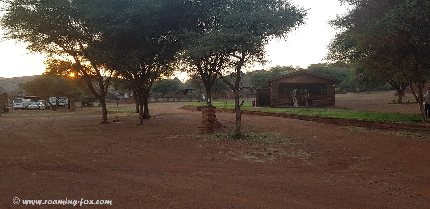 Red Sands campsite with communal ablutions