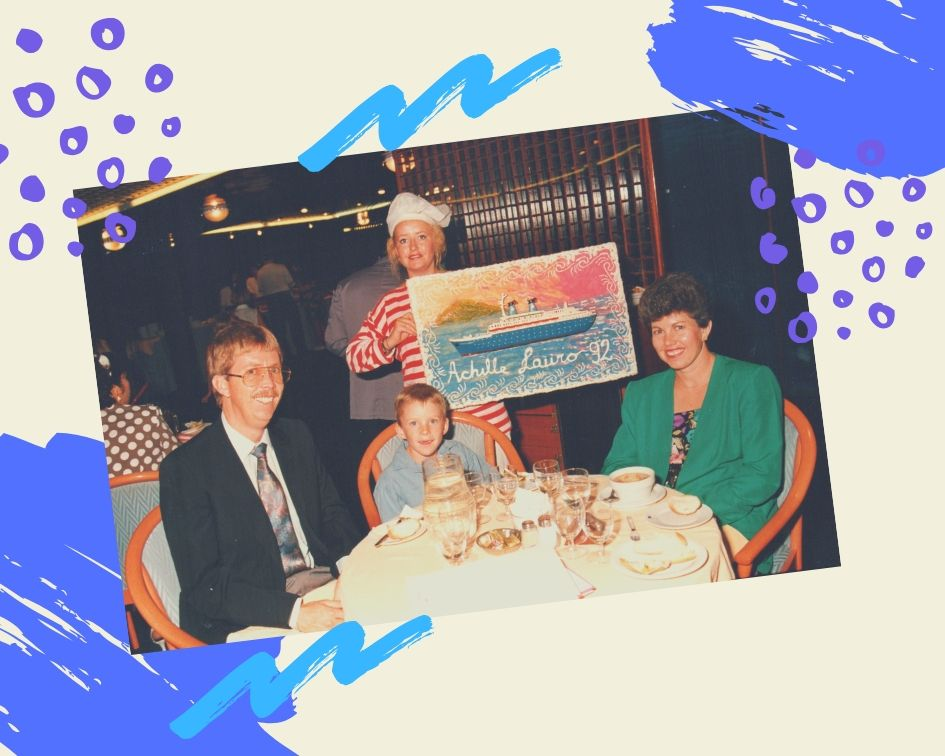 Captain's dinner on board the Achille Lauro