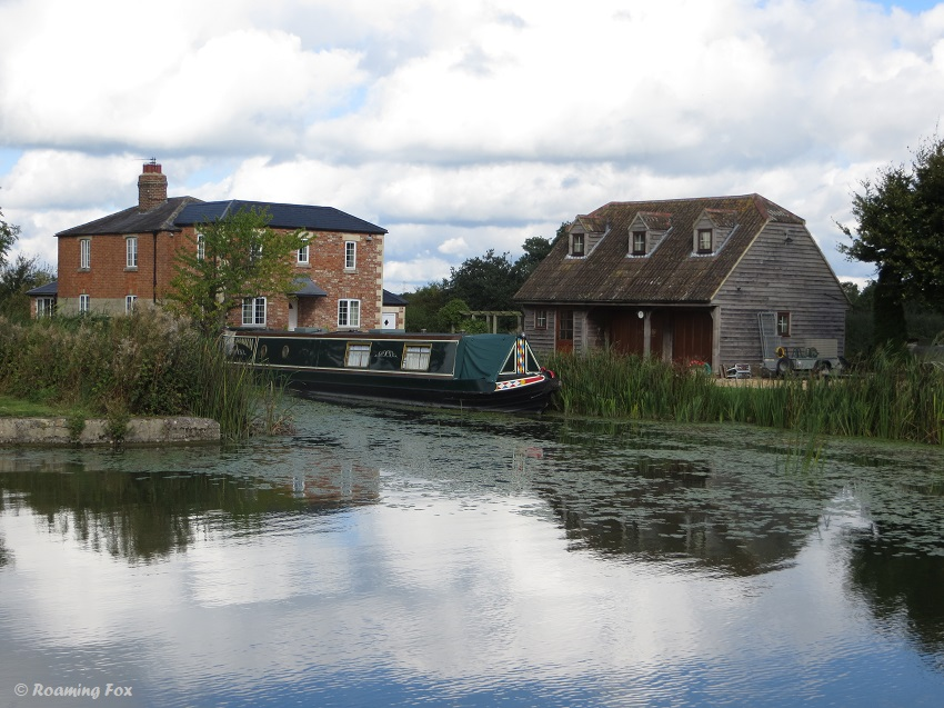 Canal boat scene