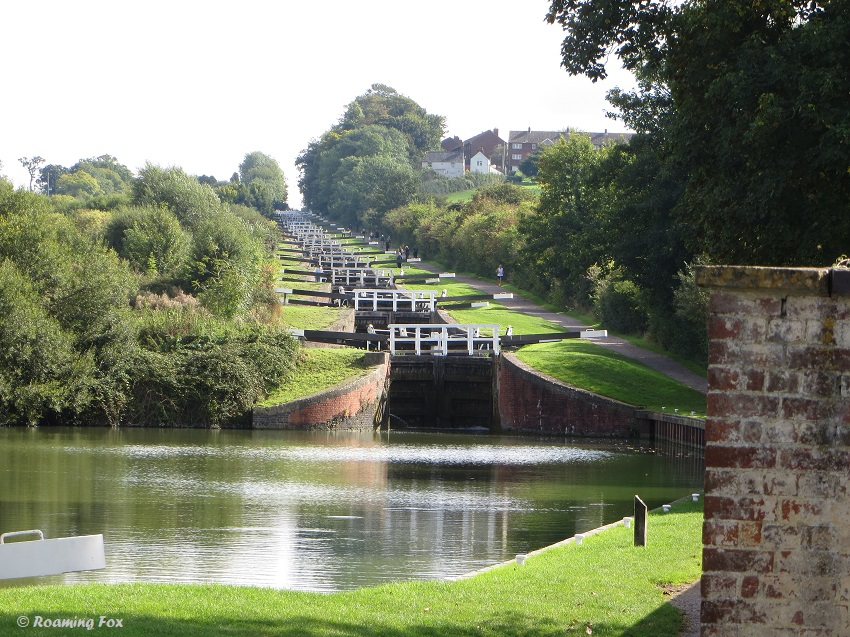 Caen Hill Locks - Devizes, 29 locks in succession - could take you a few hours