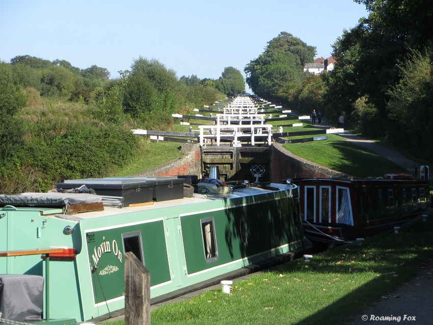 Caen Hill Locks - Devizes - takes 5 to 6 hours to traverse