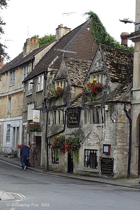 History still stands upright, only just! The Bridge Tea Rooms Bradford on Avon