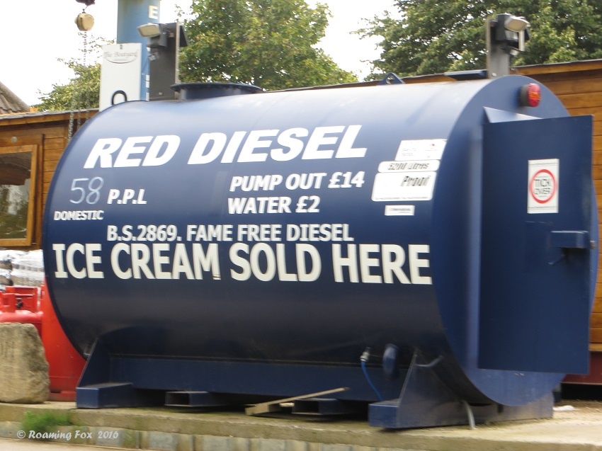 Red diesel and ice cream? Not a good combination!
