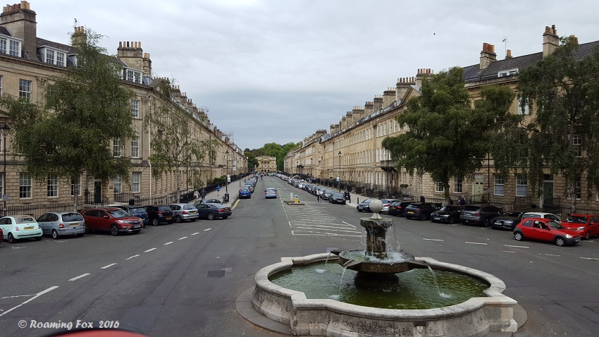 One of the streets in Bath