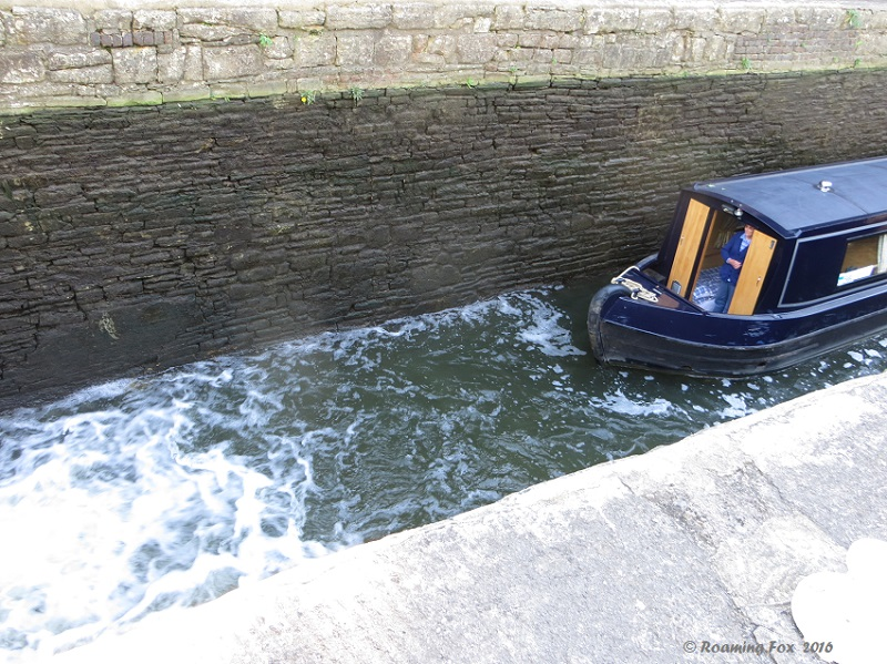 Boat in the lock - You could get soaked in the front