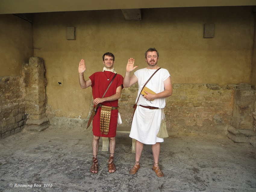Romans in Bath - dressing up