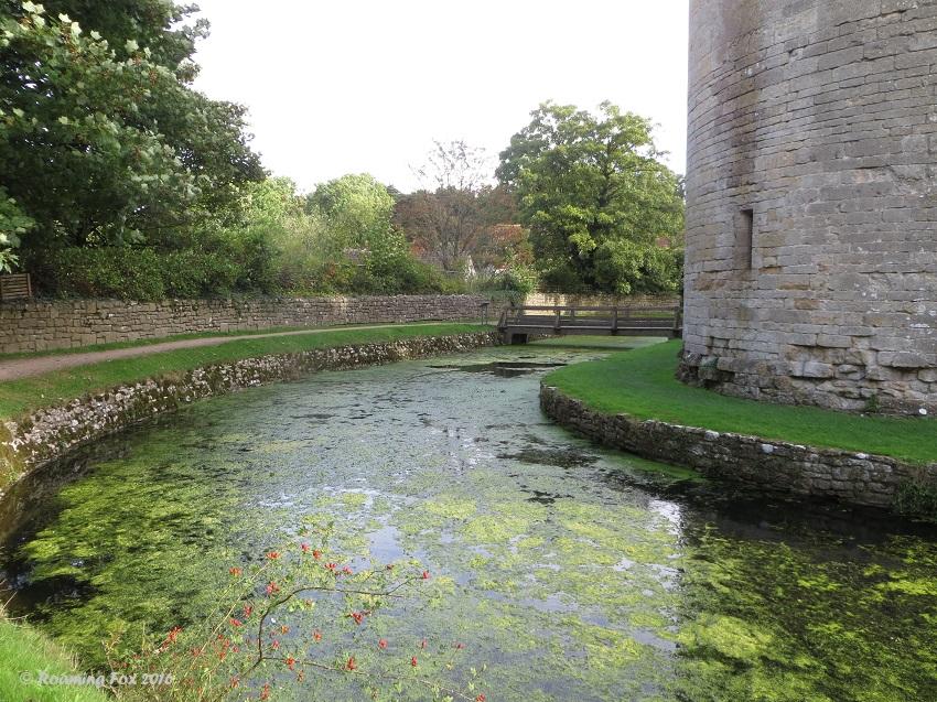 Moat and bridge, Nunney Castle