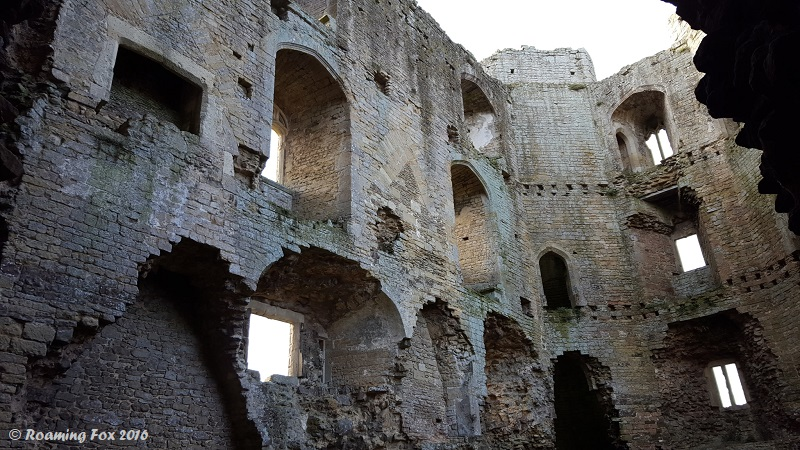 Inside the Nunny Castle ruins - half day trip Nunney and Frome