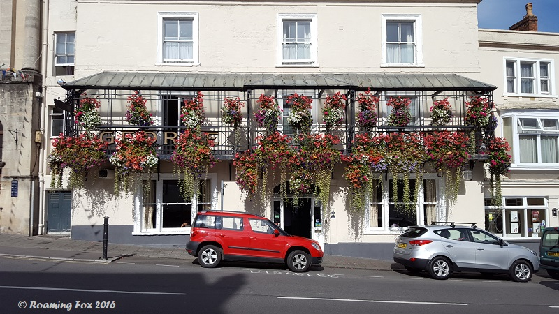 Beautiful hanging baskets in Frome