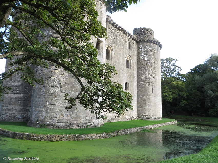 View of Nunney Castle and moat.JPG