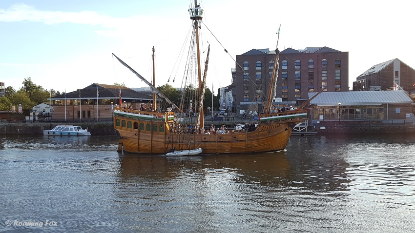 Replica of an old ship