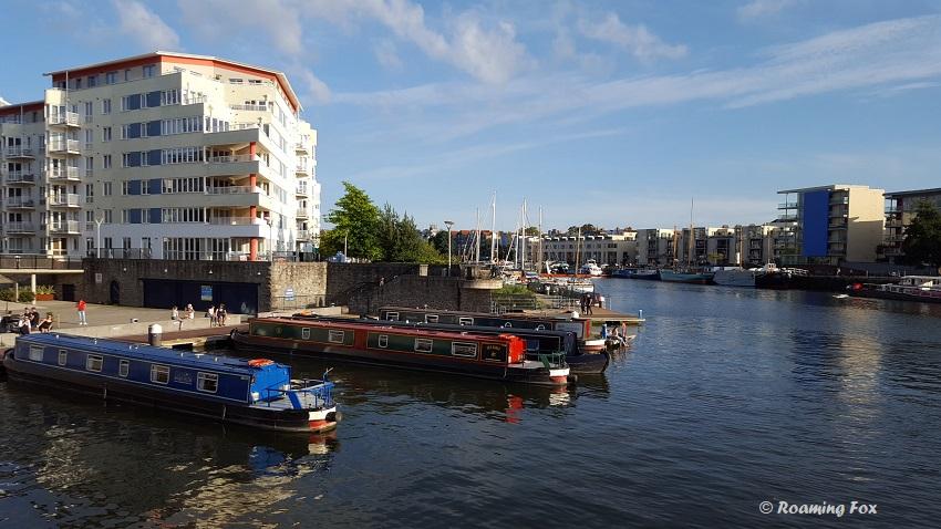 Mooring at harbour inlet near Millenium Square