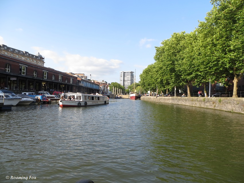 One of Bristol harbour's inlets with boats and buildings