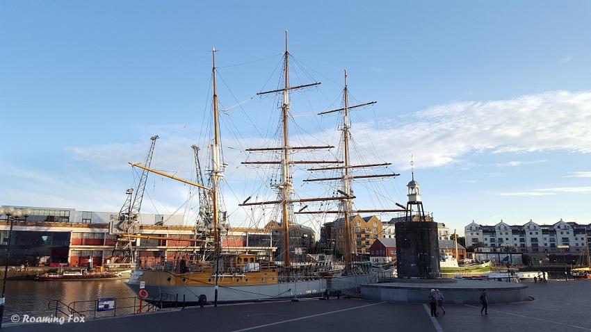 Sailing ship Bristol harbour