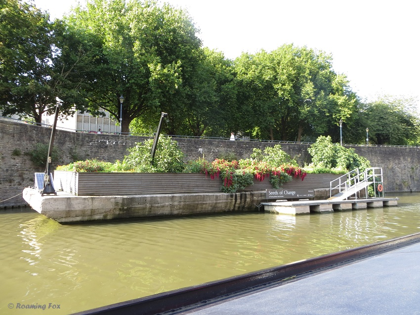 Seeds of change floating garden Bristol