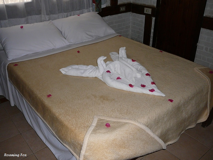 Towel art swans and heart Dahab, Egypt