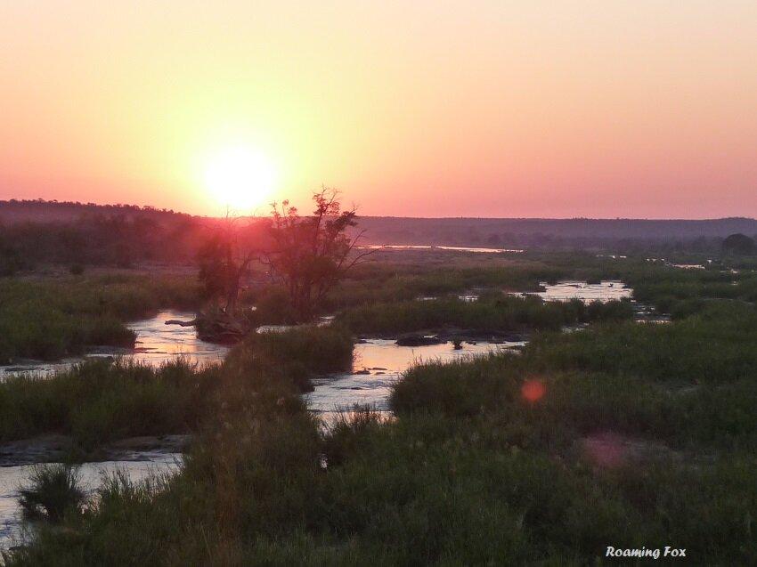 Sunset river Kruger National Park
