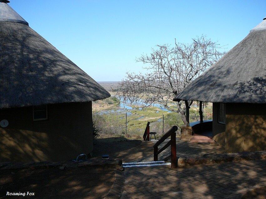 View through bungalows Olifants Rest camp Kruger National Park