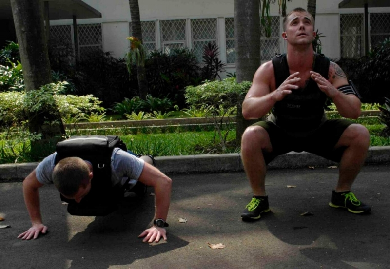Weight vest push up