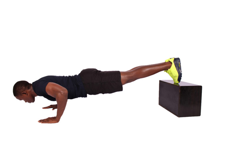 Decline Push ups for Triceps