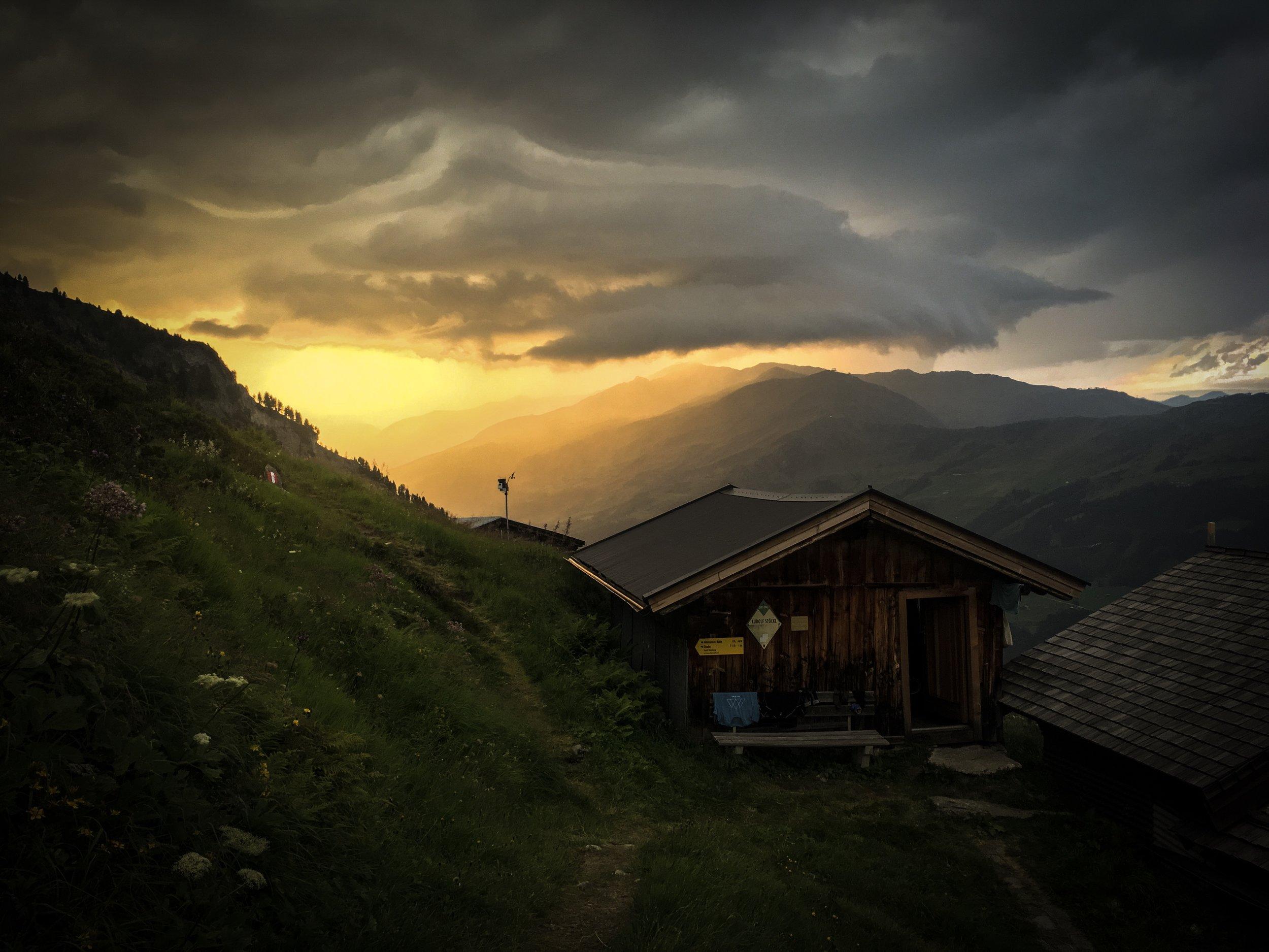 Abendliches Gewitter an der Gamshütte