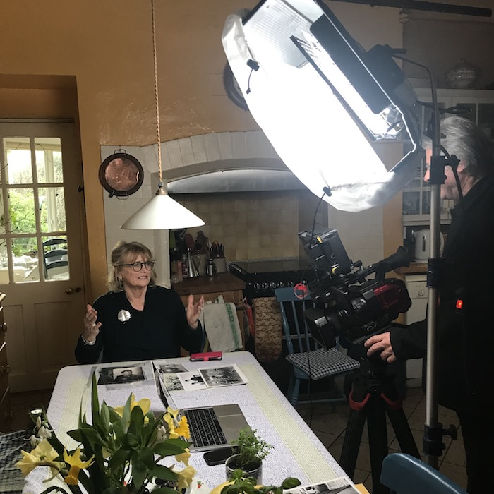 Marie Heaney is filmed in her Dublin home for a new BBC documentary.