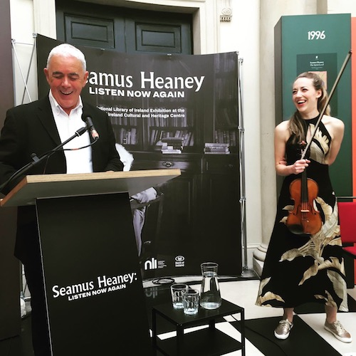 Theo Dorgan and Aoife Ni Bhriain at the second of the Listen Now Again Live series of concerts in Bank of Ireland, College Green, on Thursday 18 July 2019.