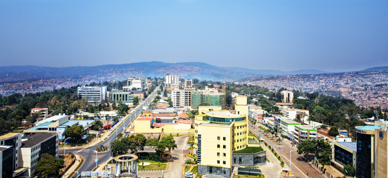 Kigali, Rwanda sits at the forefront of technological innovation in Africa.  (Photo by The Telegraph)