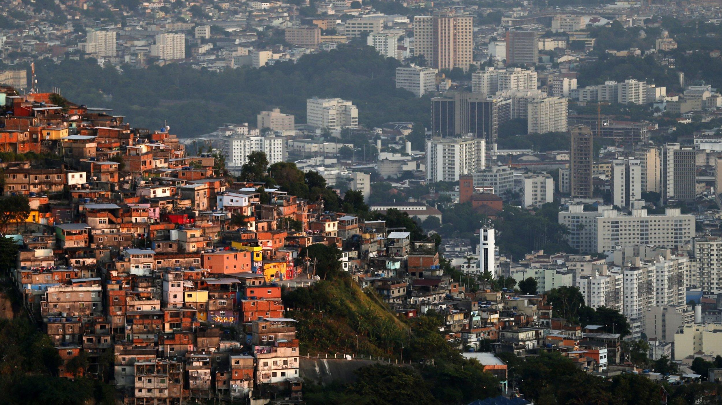 A favela in Rio de Janeiro  (Photo by Sergio Moraes/Reuters).