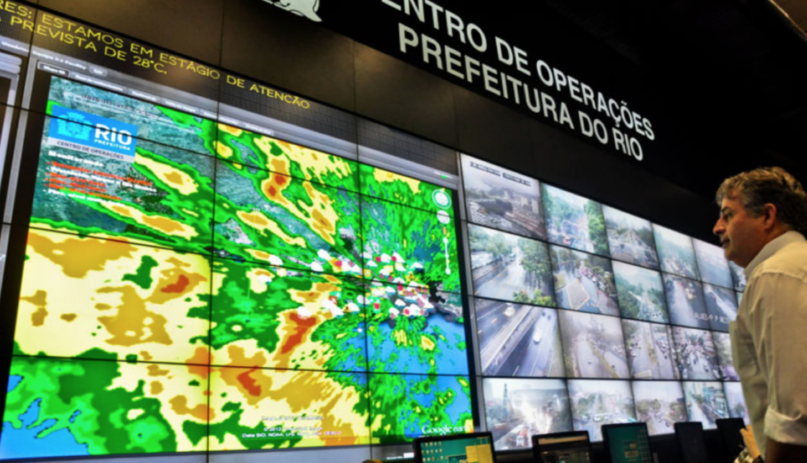 "In cities like Dubai and London, planners use ""urban dashboards"" to visualize real-time data for surveillance, transport, and waste management purposes, among others.   (Photo by  Museum of the City )"