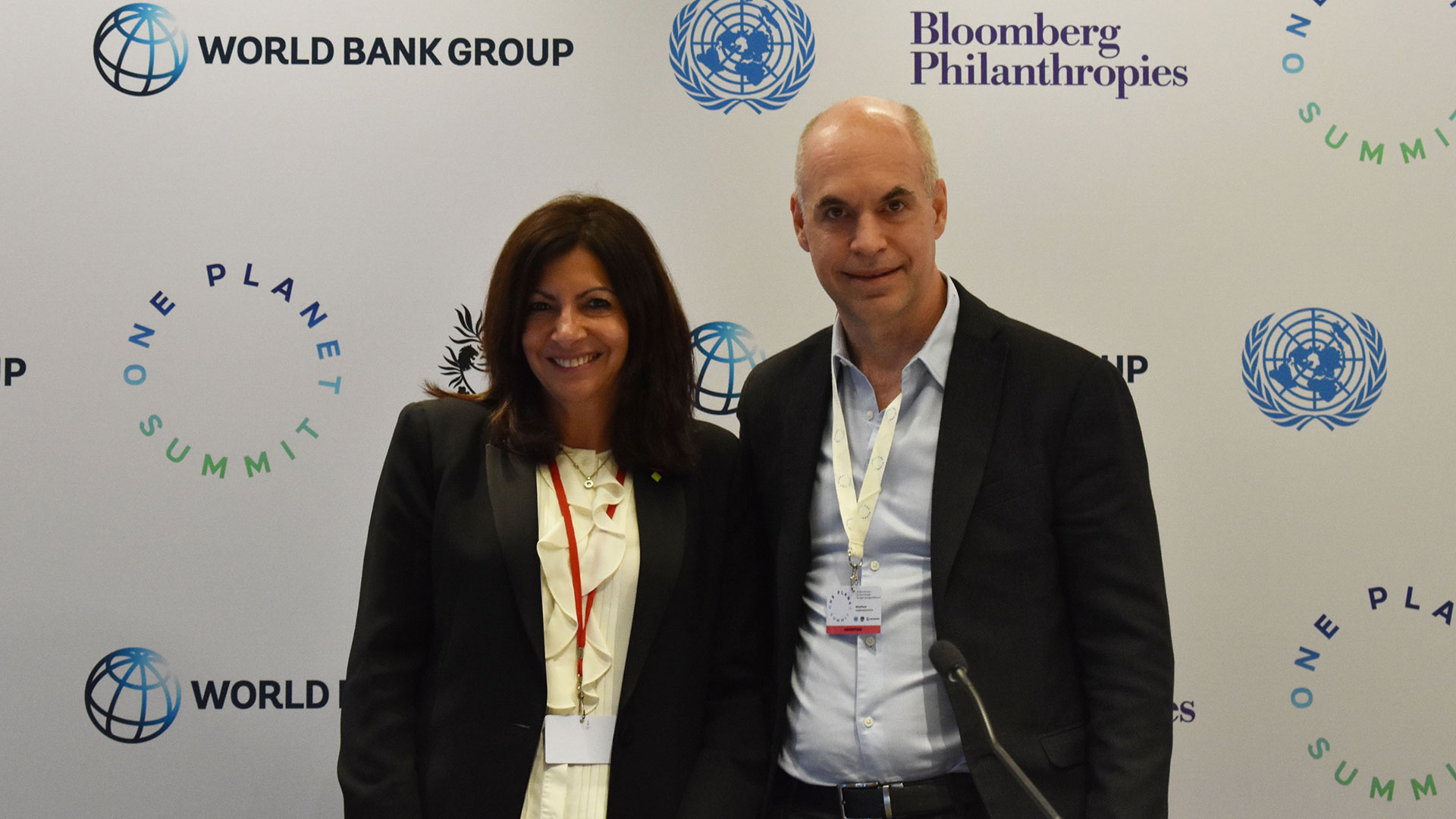 Anne Hidalgo, mayor of Paris, and Horacio Rodríguez Larreta, mayor of Buenos Aires, will co-chair the inaugural U20.  (Source:  Bloomberg and C40 Cities )
