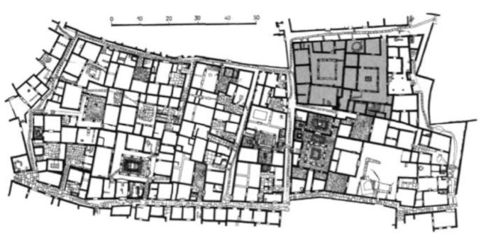"""City of Delos.  (Source: Anton Capitel, """"La Arquitectura del Patio"""", Barcelona, 2005, Gustavo Gili. Pp. 199.)"""