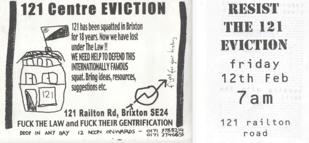 Eviction Resistance, Brixton, 1999. (Source:  https://www.radionz.co.nz/national/programmes/nights/audio/201840051/squatting-and-the-era-of-housing-activism )