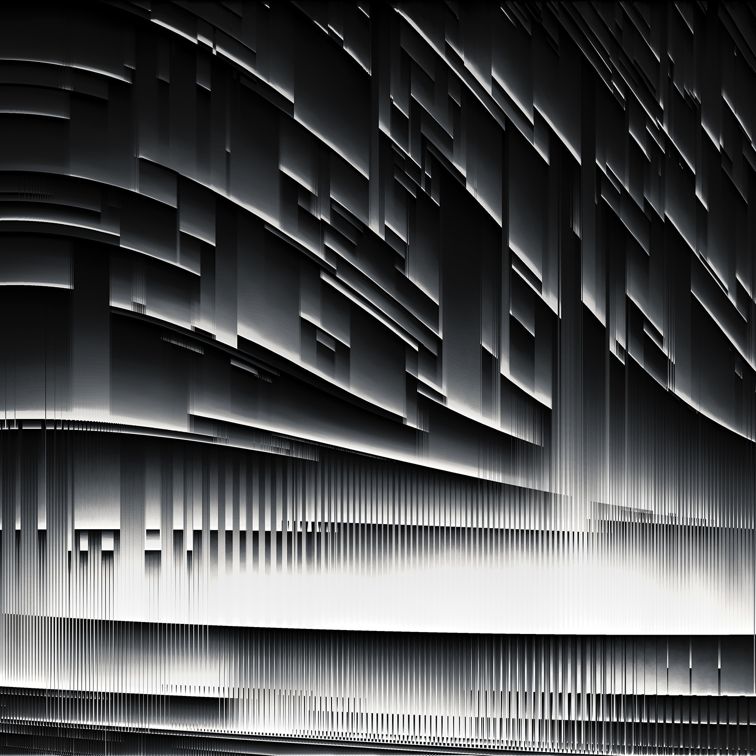 Evolving from the resonate forces left behind from LO 1.0, a geometric landscape of Sonic Sculptures constructed of modular techno patterns, generated a physical and virtual world that could be explored and interacted with. -