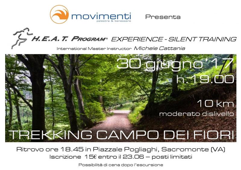 """Trekking """"Campo dei fiori"""" Silent Training"""