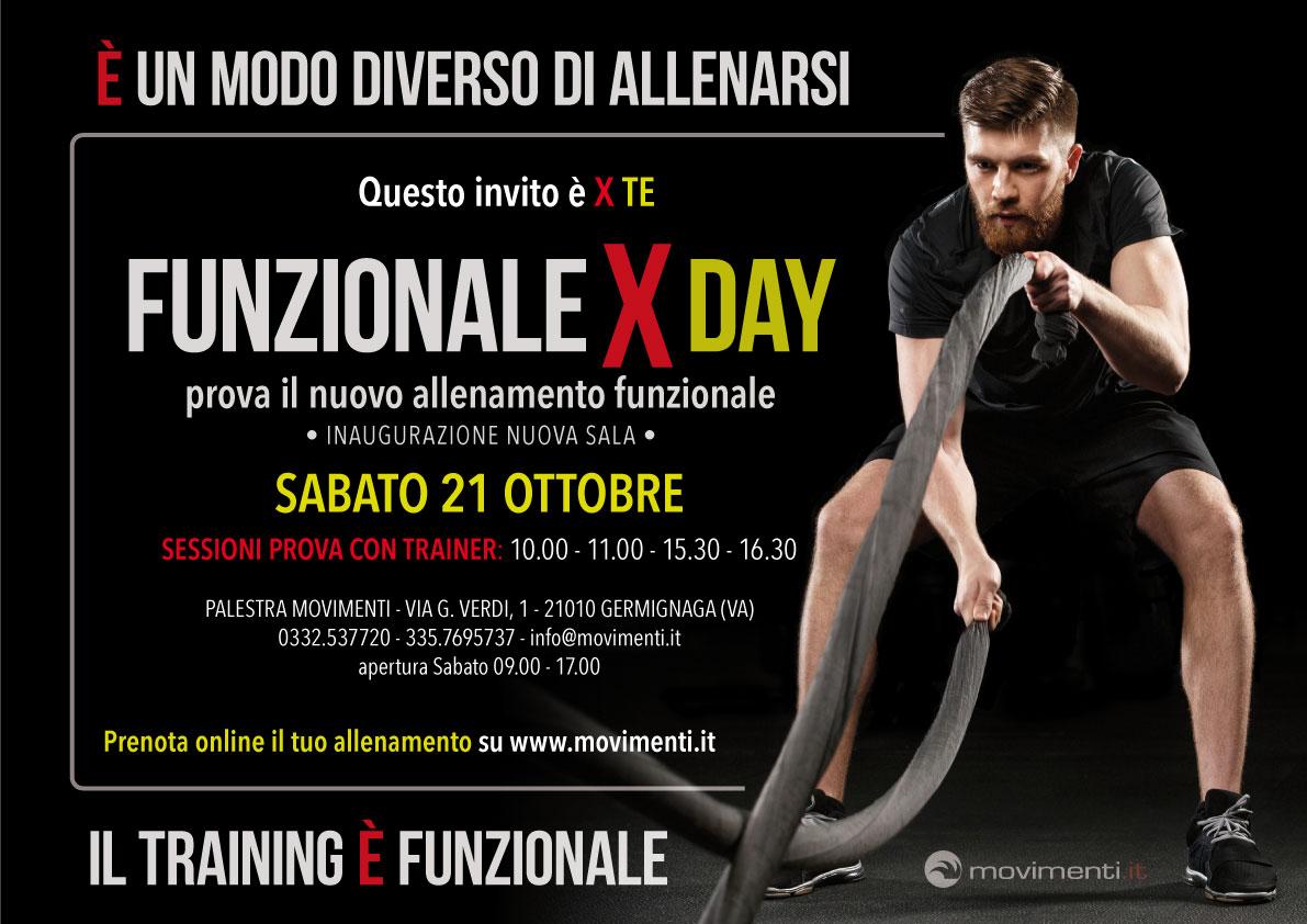 Funzionale X Day: una gornata speciale per tutti per provare in nuovo allenamento funzionale!