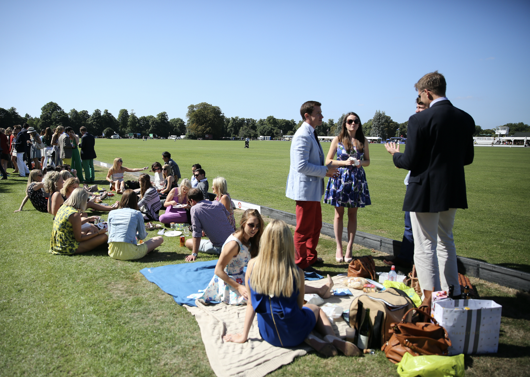 Fun in sun - enjoying a picnic at the polo