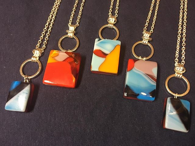 "Take a look at the ""Mod Squad"" Series of #fusedglass Necklaces from @lubianistudios  #fusedglass #glass #art #jewelry #necklace #midcenturymodern #midcentury #mod #silver #artistsoninstagram #handmadejewelry #handmade #artisan #hustle #girlboss #artforsale #jewelryforsale #giftideas #treatyoself #dallas #texas #greenville"