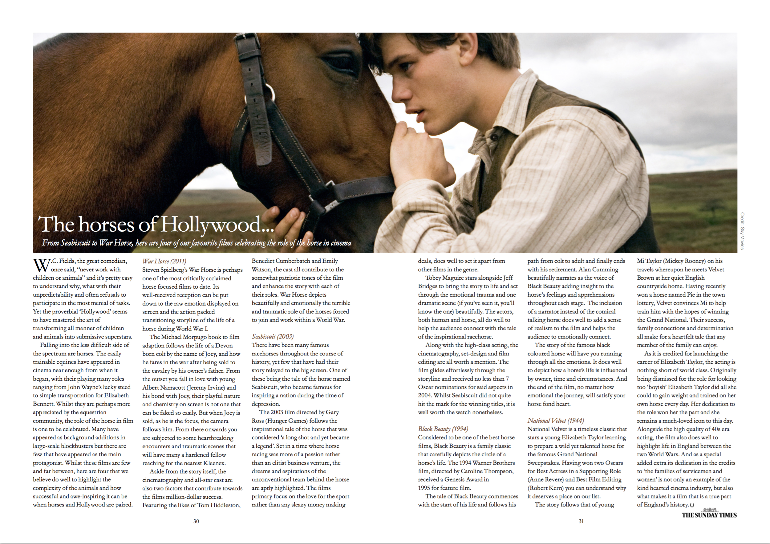 Feature on 'The Horses of Hollywood'