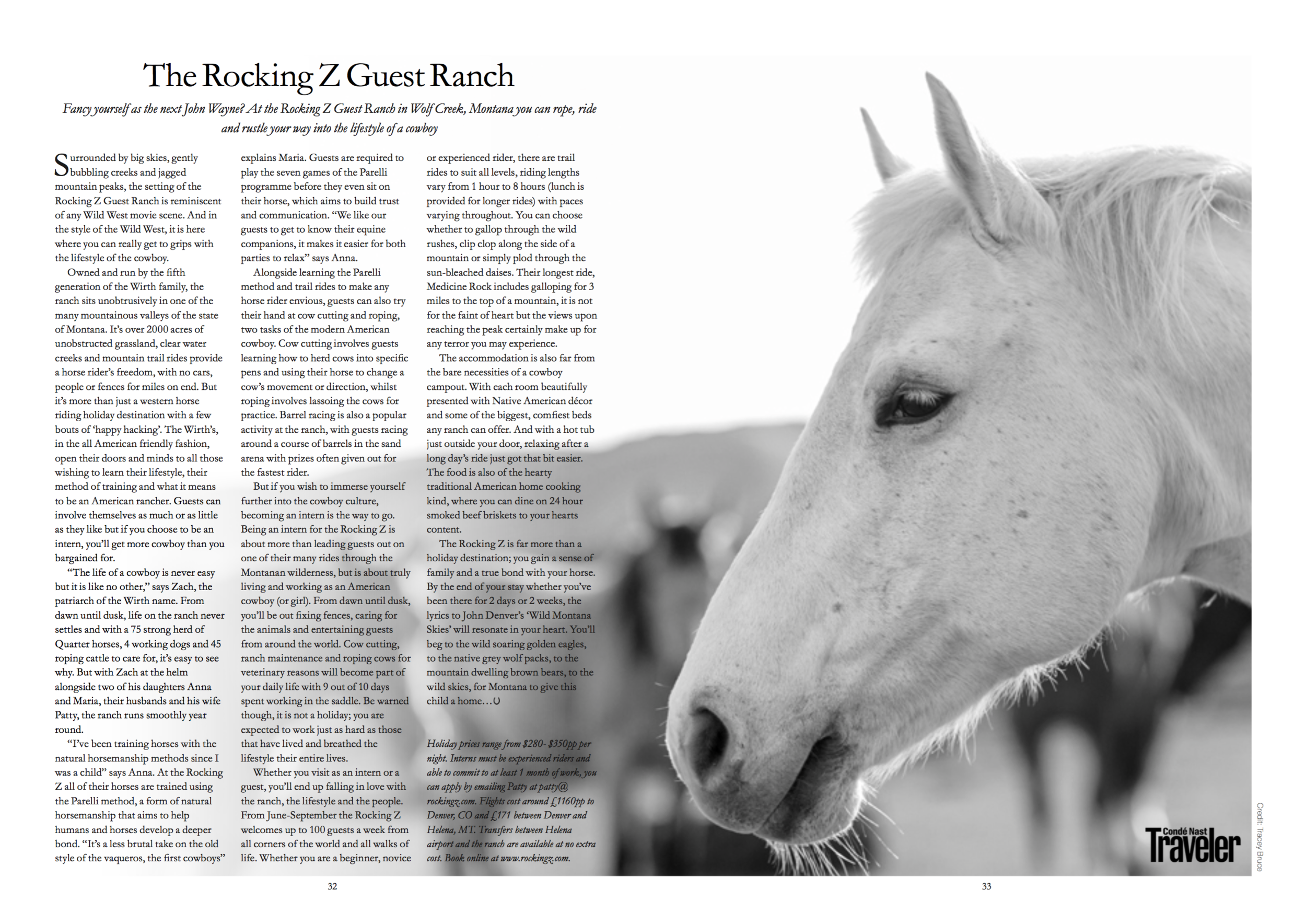 Travel feature on The Rocking Z Guest Ranch