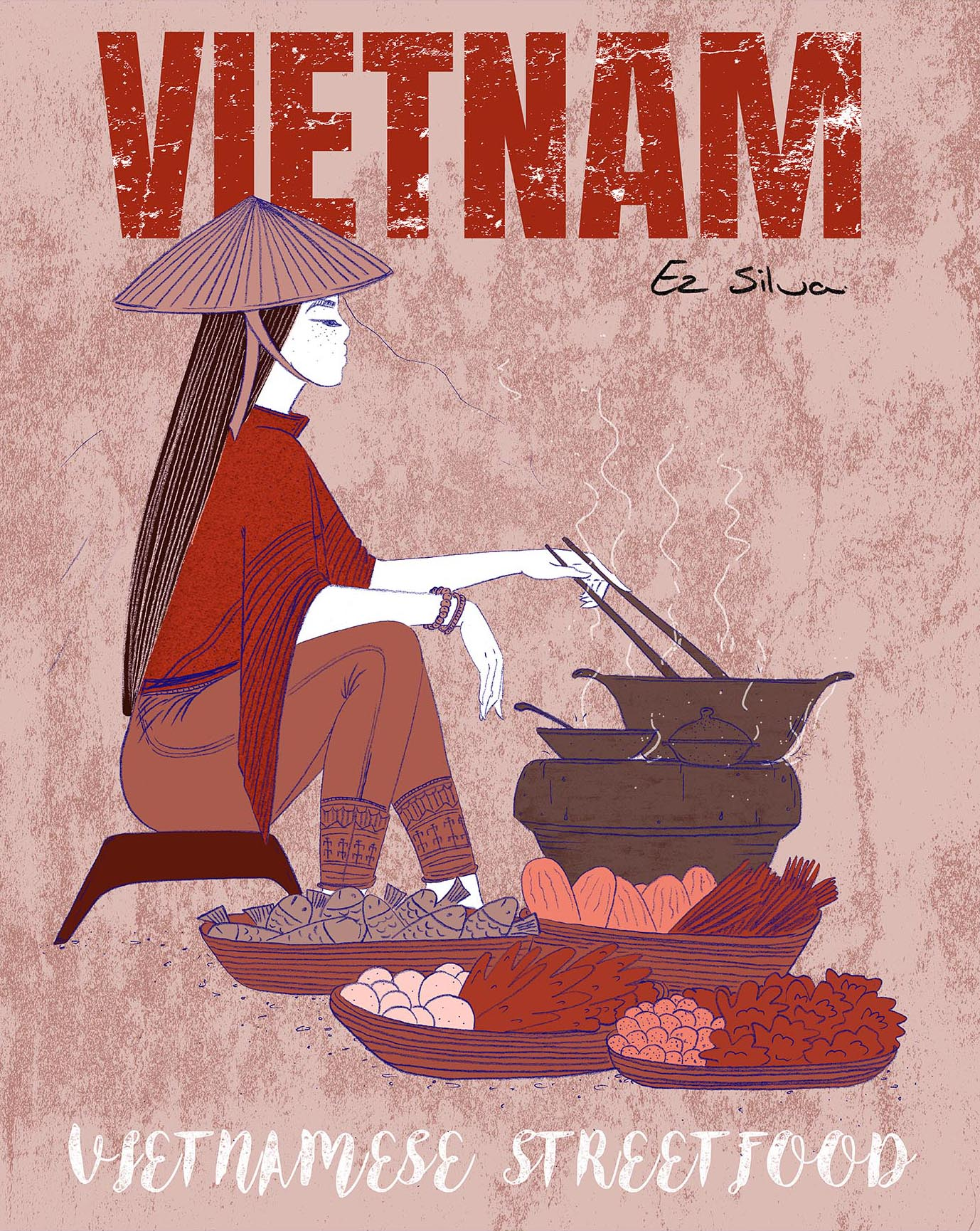 Vietnamese Streetfood - Poster Design
