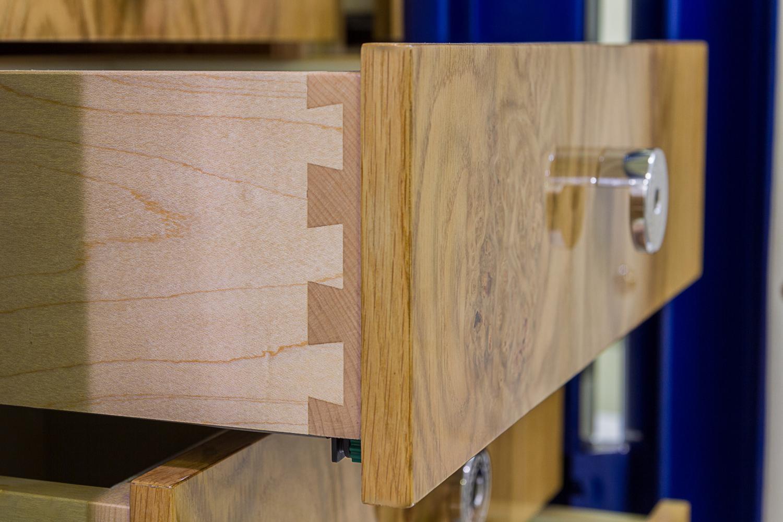 luxury safe drawer dovetail detail