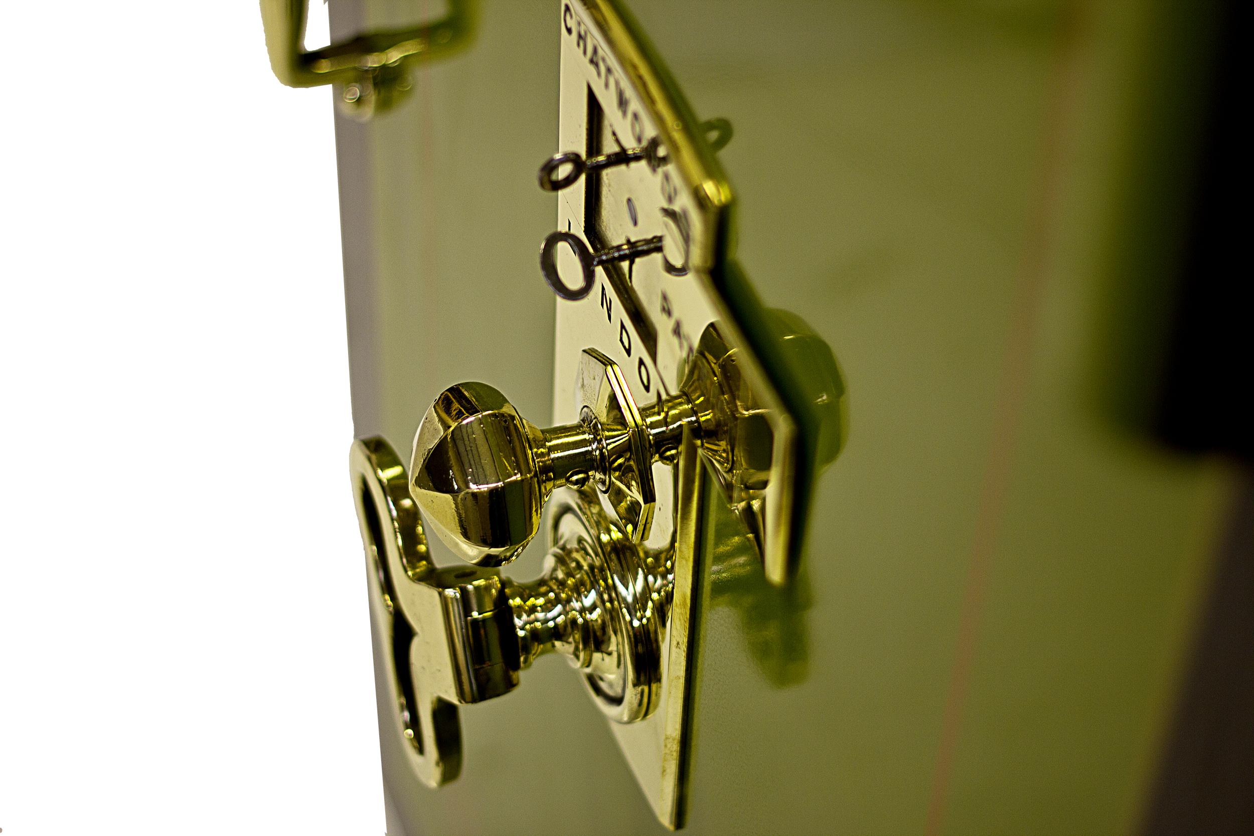 Chatwood vintage safe door detail