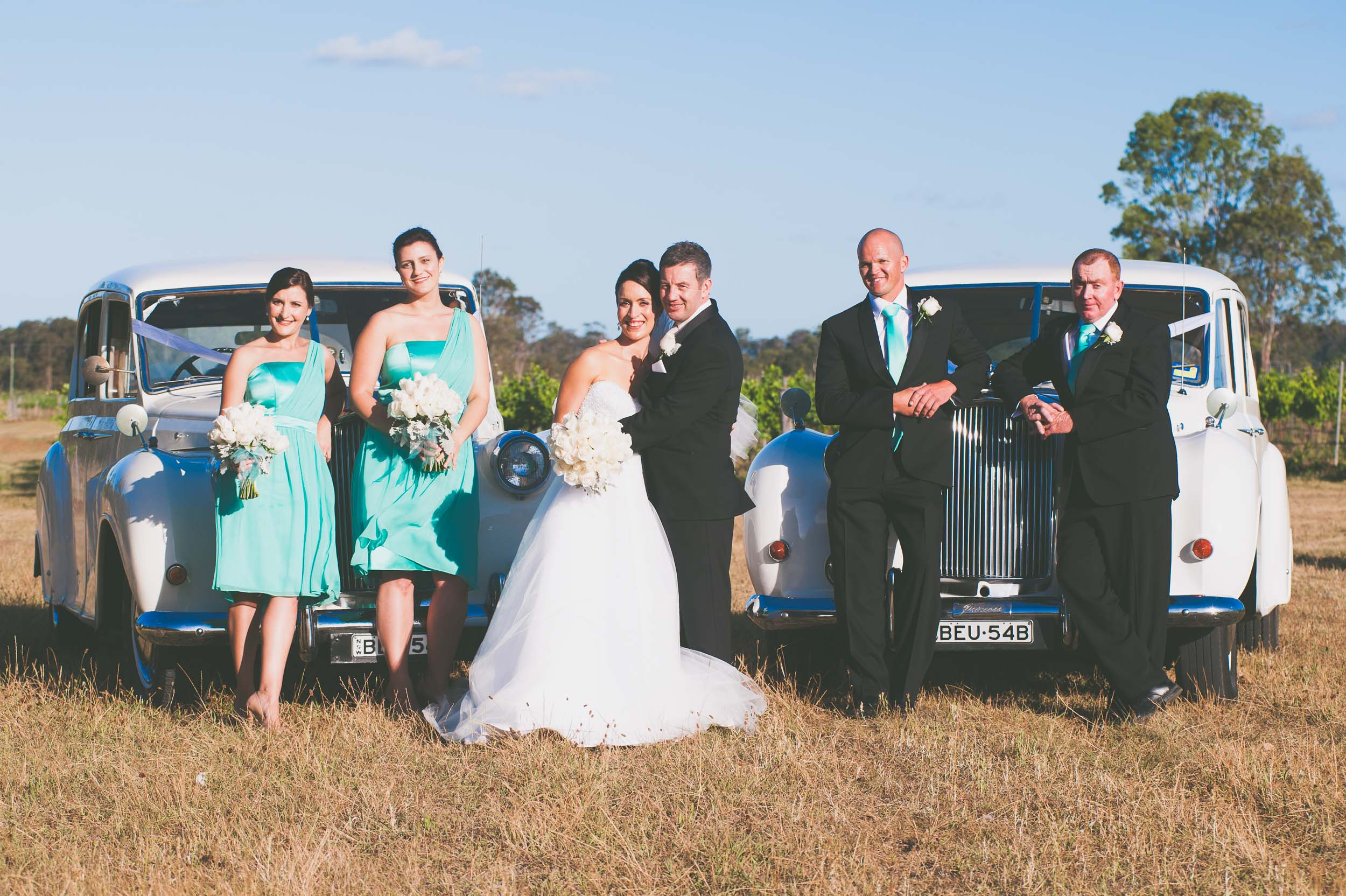 Bridal party in front of cars - Weddings - Photo credit Nicola Bailey.jpg
